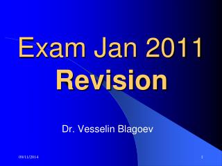 Exam Jan 2011 Revision