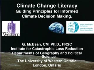 Climate Change Literacy Guiding Principles for Informed Climate Decision Making.