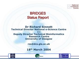 BRIDGES Status Report