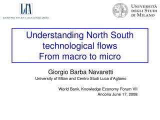 Understanding North South technological flows  From macro to micro