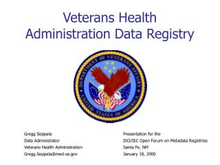 Veterans Health Administration Data Registry