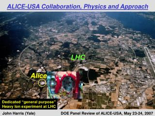 ALICE-USA Collaboration, Physics and Approach
