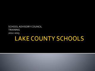 LAKE COUNTY SCHOOLS