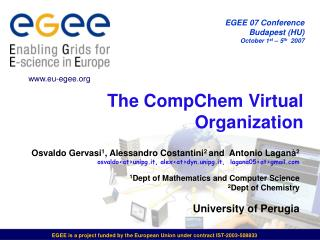 The CompChem Virtual Organization