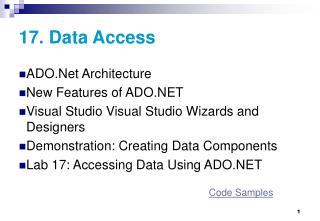 17.  Data Access
