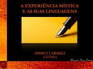 A EXPERIÊNCIA MÍSTICA E AS SUAS LINGUAGENS