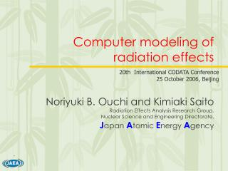 Computer modeling of radiation effects