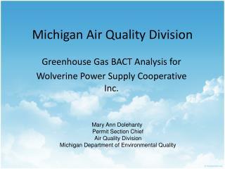 Michigan Air Quality Division