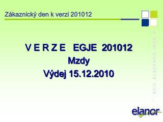Zákaznický den k verzi 201012