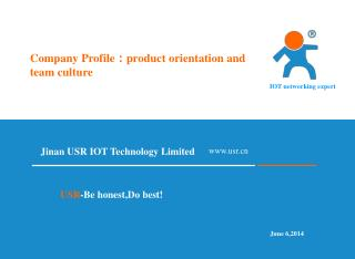 Company Profile : product orientation and team culture