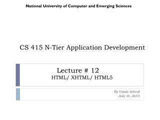 CS 415 N-Tier Application Development