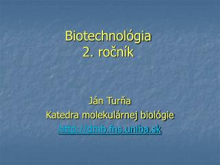 Biotechnológia 2. ročník