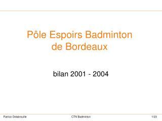 Pôle Espoirs Badminton de Bordeaux