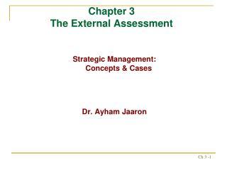 Chapter 3  The External Assessment