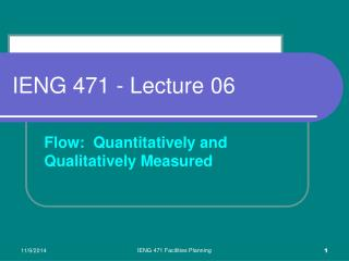 IENG 471 - Lecture 06