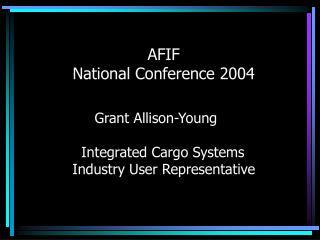 AFIF National Conference 2004