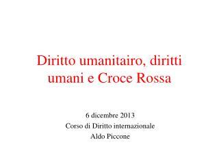 Diritto umanitairo, diritti umani e Croce Rossa