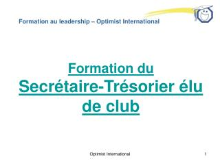 Formation au leadership � Optimist International