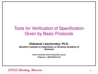 Tools for Verification of Specification Given by Basic Protocols