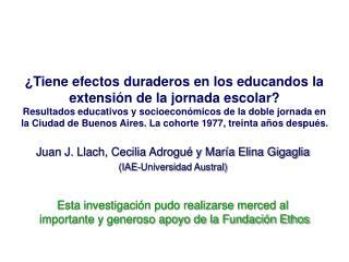 Tiene efectos duraderos en los educandos la extensi n de la jornada escolar  Resultados educativos y socioecon micos de