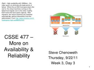 CSSE 477 – More on Availability & Reliability