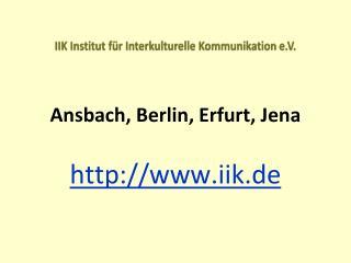 IIK Institut f�r Interkulturelle Kommunikation e.V.