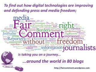 ...around the world in 80 blogs