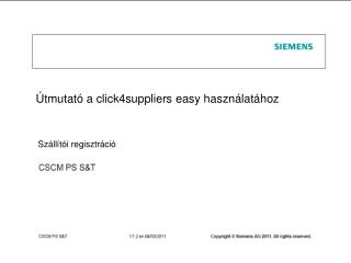 Útmutató a click4suppliers easy használatához