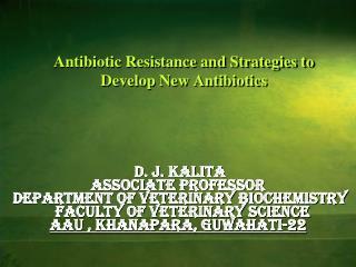 Antibiotic Resistance and Strategies to Develop New Antibiotics