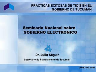 Seminario Nacional sobre   GOBIERNO ELECTRONICO