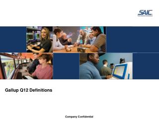 Gallup Q12 Definitions