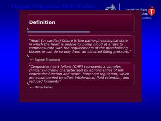 Low-Output Heart Failure Systolic Heart Failure (HFREF):