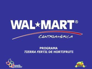 PROGRAMA  TIERRA FERTIL  DE  HORTIFRUTI