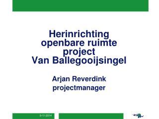 Herinrichting openbare ruimte project Van Ballegooijsingel  Arjan Reverdink projectmanager