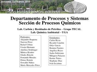 Departamento de Procesos y Sistemas