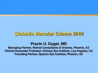 Diabetic Macular Edema 2010