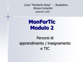 MonForTic Modulo 2