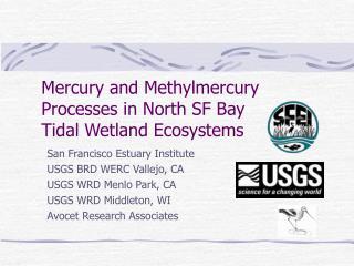 Mercury and Methylmercury Processes in North SF Bay  Tidal Wetland Ecosystems