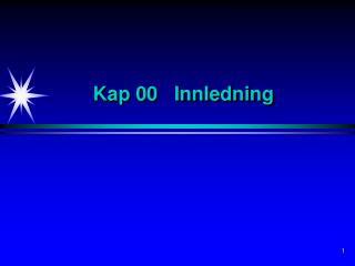 Kap 00   Innledning
