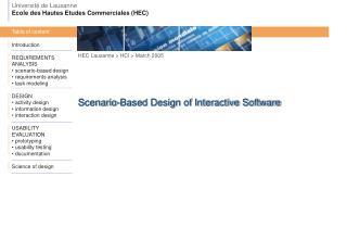 HEC Lausanne  >  HCI > March 2005