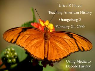 Urica P. Floyd Teaching American History Orangeburg 5 February 24, 2009