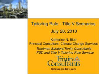 Tailoring Rule - Title V Scenarios