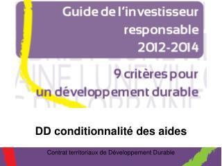 Contrat territoriaux de D veloppement Durable