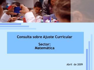 Reforma curricular: estado de la discusión