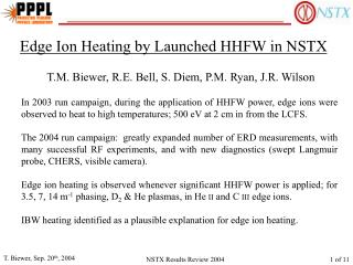 Edge Ion Heating by Launched HHFW in NSTX