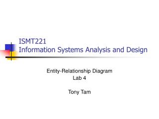 ISMT221 Information Systems Analysis and Design