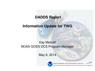 DADDS Report Information Update for TWG