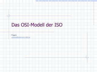 Das OSI-Modell der ISO
