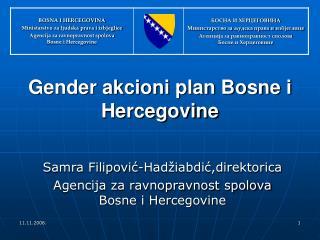 Samra Filipović-Hadžiabdić,direktorica Agencija za ravnopravnost spolova Bosne i Hercegovine