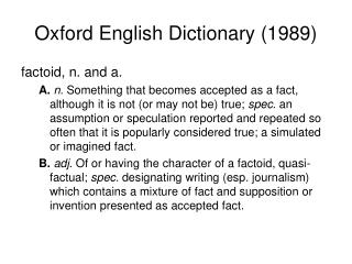 Oxford English Dictionary (1989)